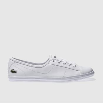 Lacoste White Ziane Womens Trainers