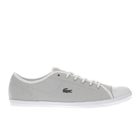 36156aedc68d77 5054457754899 1952846870. womens light grey lacoste ziane sneaker trainers