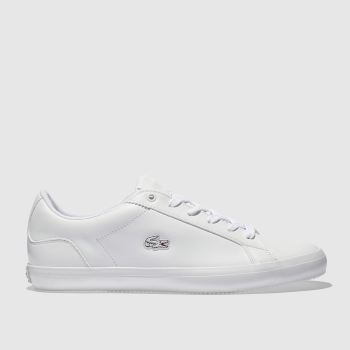 9ee9755be Lacoste White Lerond Womens Trainers