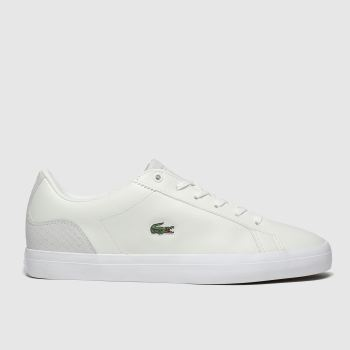 Lacoste White & Green Lerond Womens Trainers