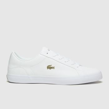 Lacoste White & Gold Lerond Womens Trainers#