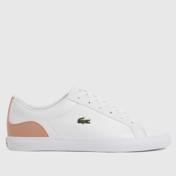 Lacoste White & Pink Lerond Womens Trainers