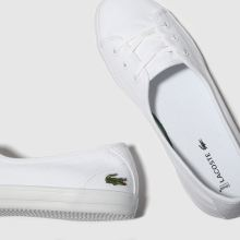 code promo c52c7 6bf85 lacoste white ziane chunky trainers