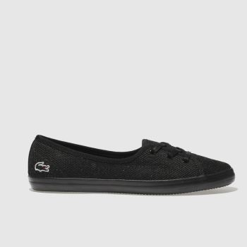 Lacoste Black Zaine Chunky 318 Womens Trainers