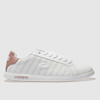 womens white lacoste helaine runner trainers  439168754