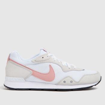 Nike White & Pink Venture Runner Womens Trainers
