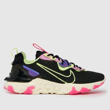 Nike Black & Purple React Vision Trainers