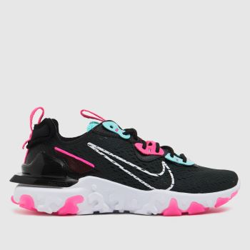 Nike Black & pink React Vision Womens Trainers