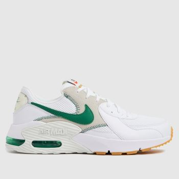 Nike White & Green Air Max Excee Womens Trainers