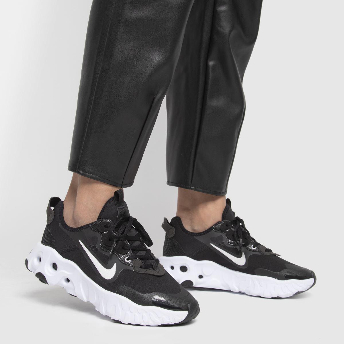 Womens Black & White Nike React Art3mis Trainers | schuh