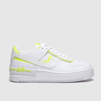 Nike White & Yellow Af1 Shadow Trainers