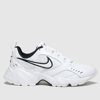 nike white & black air heights trainers