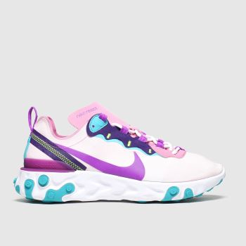 Nike Pale Pink React Element 55 Womens Trainers