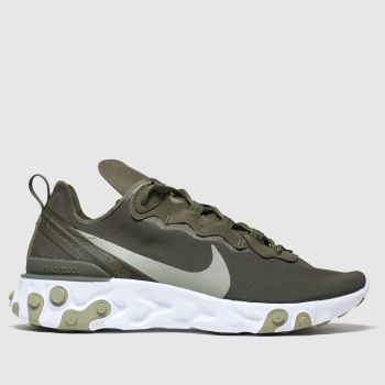 Nike Khaki React Element 55 Womens Trainers