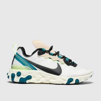 Nike Light Grey React Element 55 Womens Trainers