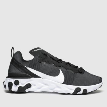 Nike Black & White React Element 55 Trainers