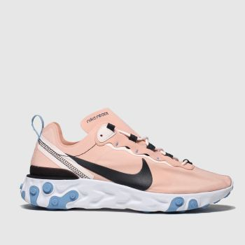 Nike Pink & Black React Element 55 Womens Trainers