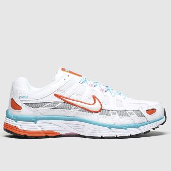 Nike White & Pl Blue P-6000 Trainers