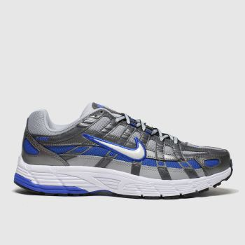 Nike Grey & Navy P-6000 Trainers