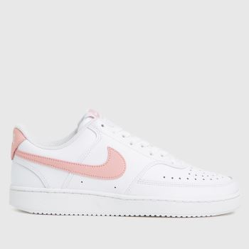Nike White & Pink Court Vision Womens Trainers