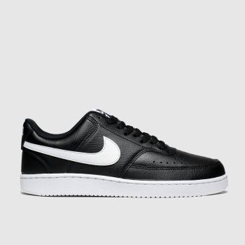 Nike Black & White Court Vision Womens Trainers