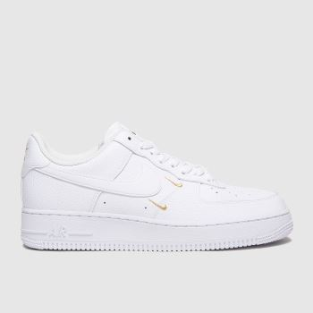 Nike White & Gold Air Force 1 Essential Womens Trainers