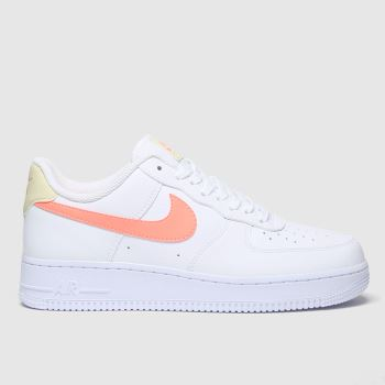 Nike White & Pink Air Force 1 07 c2namevalue::Womens Trainers#promobundlepennant::£5 OFF BAGS