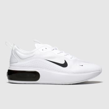 Nike White & Black Air Max Dia Womens Trainers