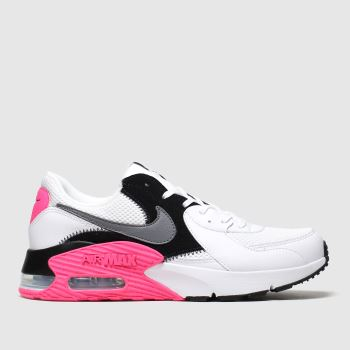 Nike White & Pink Air Max Excee Trainers