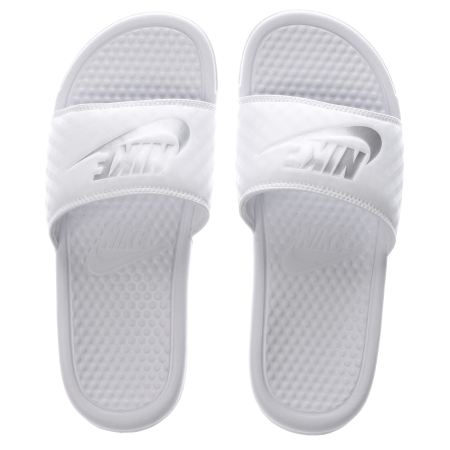 Womens White Nike Benassi Pool Slide Sandals | schuh