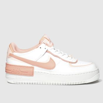 Nike White & Pink Af1 Shadow Womens Trainers
