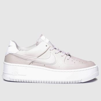 Nike Lilac Air Force 1 Sage Low c2namevalue::Womens Trainers