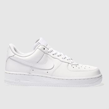 buy popular 302b5 53c80 Nike White Air Force 1 O7 Womens Trainers