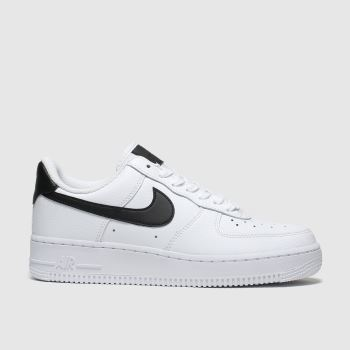 Nike White & Black Air Force 1 07 Womens Trainers#