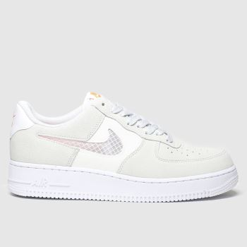 Nike White & grey Air Force 1 Se Trainers