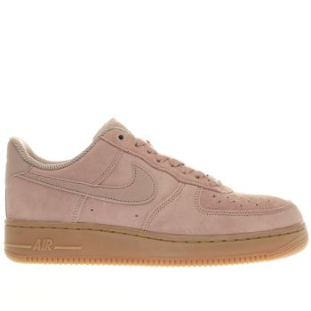 NIKE PALE PINK AIR FORCE 1 LOW TRAINERS
