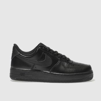 Nike Black Air Force 1 07 Womens Trainers#