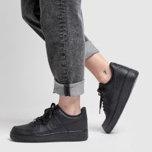 womens black nike air force 1 07 trainers  42813adb2f