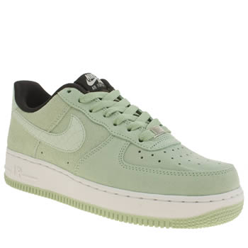 womens light green nike air force 1 low trainers schuh. Black Bedroom Furniture Sets. Home Design Ideas