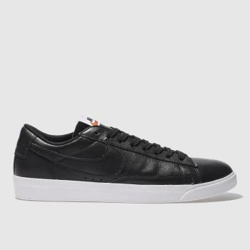 Nike Black Blazer Low Leather Womens Trainers
