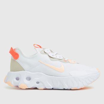 Nike White & Orange React Art3mis Womens Trainers