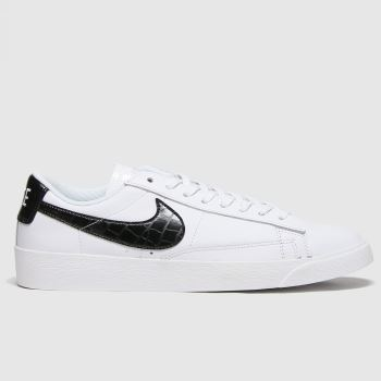 Nike White & Black Blazer Low Womens Trainers