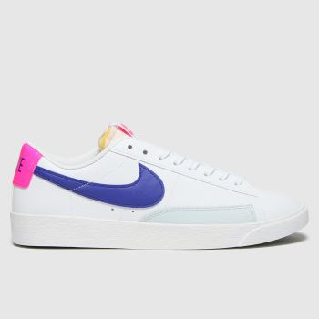 Nike White & Pink Blazer Low Womens Trainers