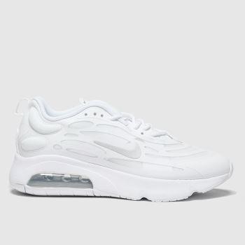 Nike White & Silver Air Max Exosense Womens Trainers