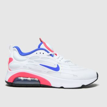 Nike White & Blue Air Max Exosense Womens Trainers