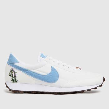 Nike White & Pl Blue Daybreak Womens Trainers