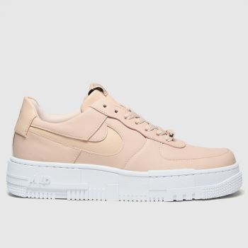 Nike Pale Pink Air Force 1 Pixel Womens Trainers#