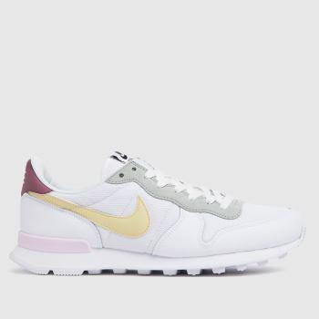 Nike White & Yellow Internationalist Womens Trainers