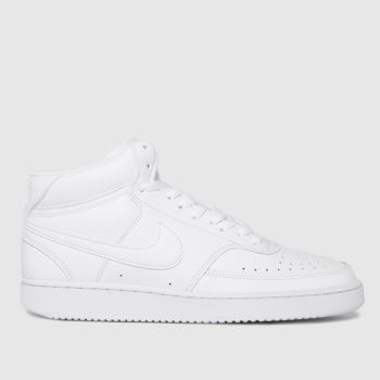Nike White Court Vision Mid Womens Trainers