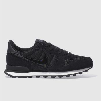 Nike Black & White INTERNATIONALIST Trainers